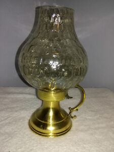 Vintage Brass and Glass Candle Holder - made in West Germany