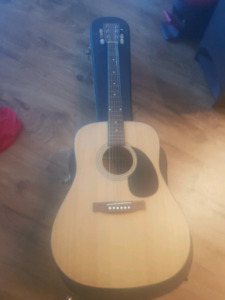 guitar with hard case
