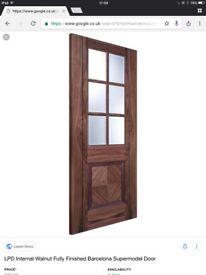 Pre finished internal walnut door