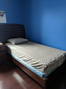 Twin headboard and bedframe for sale