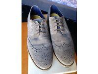U.K. Size 8 grey suede shoes