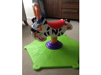 Fisher Price Bounce and Spin Zebra for sale.