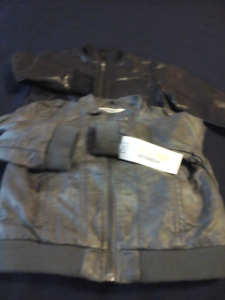 New Boys Leather jackets 2Y and 2T $15 each