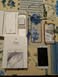 Mint Very Silver 32gb Pixel w/ Pixel Protect & 2 Ringke Cases