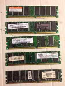 Desktop Memory PC2700 5 Different Sticks