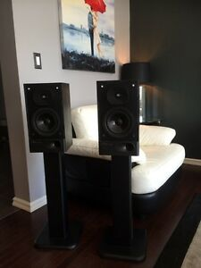 Mirage speakers.  Great for surround sound.