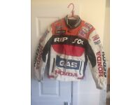 Honda repsol leather motorcycle jacket