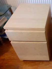 IKEA wooden file cabinets on wheels