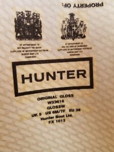 Hunter Original Tall Black Boots!