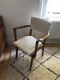 beautiful vintage wooden chair mid-century style