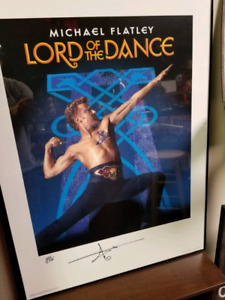 """32 x 24 autographed # Michael Flatley """"Lord of Dance Picture"""""""