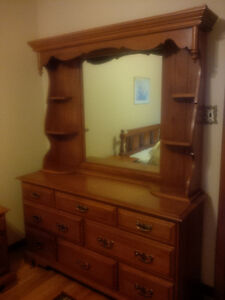 Maple Dresser with MIrror and side shelves Peterborough Peterborough Area image 1
