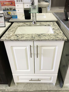 MDF Vanities w/ Quartz top, Soft Close Doors-- Starting at $375