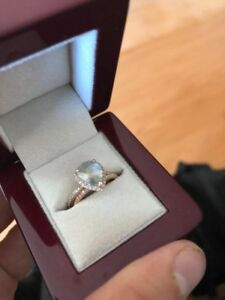 2.0ct Sapphire Engagement Ring and Wedding Band Set in Rose Gold
