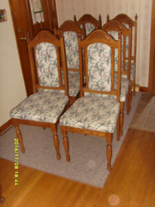 Furniture SIX OAK HIGH BACK CHAIRS - $300