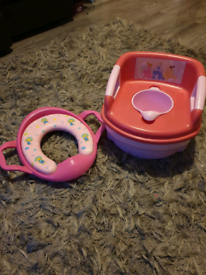 Princess potty and toilet support seat