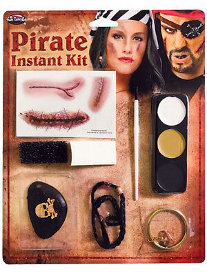 Ghost Ship Make Up Kit Zombie Pirate Face Paint Halloween Fancy Dress Face Paint](Halloween Ghost Pirate Makeup)