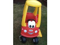 Car and trailer and bonus rocking horse little tikes toys outdoor/indoor