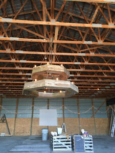Rustic Barn Board Chandelier