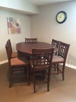 pub style table (6chairs)