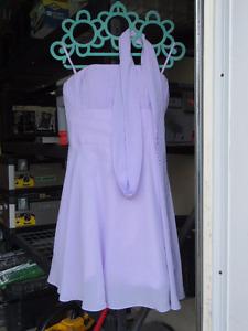 Lavender Strapless Bridesmaid Dress