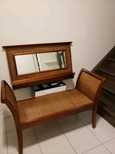 Pier one bench and mirror set