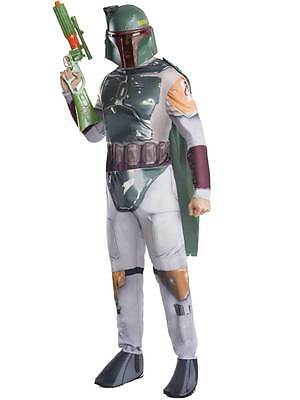 Adult Licensed Star Wars Boba Fett Outfit Fancy Dress Costume + Mask Mens New