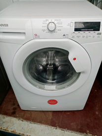 A+++ class 9kg 1400 spin Hoover washing machine Good working order Dim