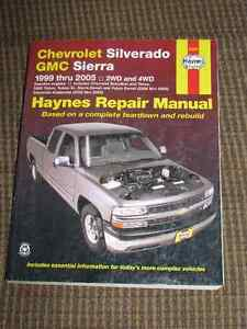 Haynes Repair Manual for Chev Silverado & GMC Sierra 1999 Thru 2
