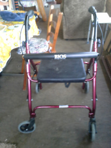 2 foldable walkers 1 Dolomite  1 Bios both with seat and brakes