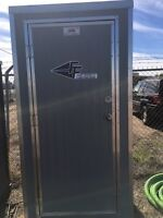 Heated portable toilet for rent