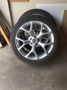 Winter Tires and chrome rims