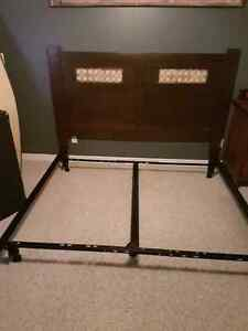 Metal king size metal bed frame.