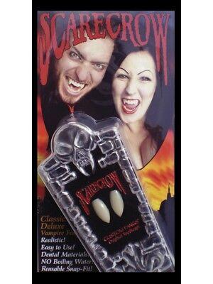 Vampir Zähnen Erwachsene Gebiss Im Sarg Kiste Luxus Kostüm
