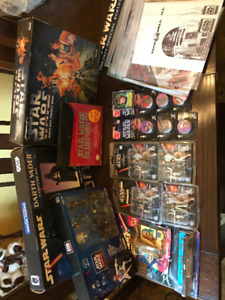 Star Wars Collectibles Lot - POGS KEYCHAINS FIGURINES BLUEPRINTS