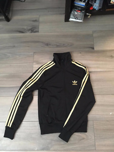 Gold Adidas Zip-Up Sweater