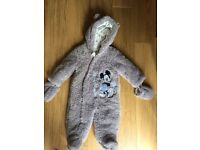 Grey Micky Mouse Snowsuit 6-9 months