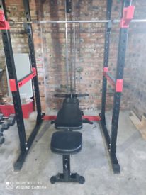 Home gym set up/409kg weight/dumbbells