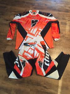 Dirt bike pants and jersey