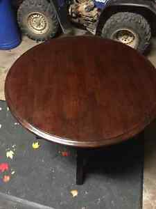 Dark brown solid wood kitchen table for SALE