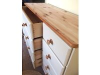 Large Up Cycled Solid Pine Sideboard/Chest of Drawers (Can Deliver)