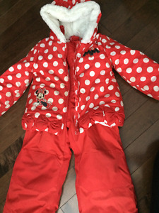 Minnie Mouse Snow Suit Size 4T