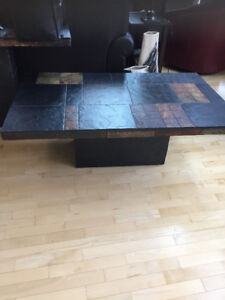 Slate coffee table and end table