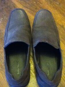 Soft Moc mens slipon brown dress shoes