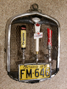 1930s Ford Model A grill draft beer dispenser wall art