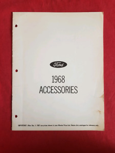 1968 FORD MUSTANG TORINO COUGAR Accessories Price List Brochure