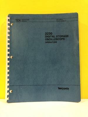 Tektronix 070-4998-01 2230 Digital Storage Oscilloscope Operators Manual
