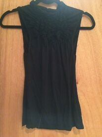 Women's black size 10 river island sleeveless top