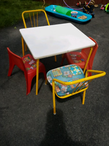 Children's table and chairs 10$
