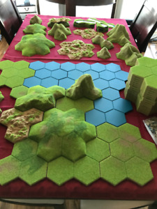 Gaming Terrain - Hexagon system, tiles, rivers, mountains